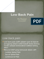 Low Back Pain Ria