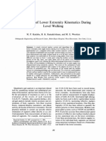 Measurement of Lower Extremity Kinematics During Level Walking