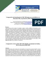 Comparativo da fiscalização do CRC-MS junto aos contabilistas em Dourados-MS, no período de 2005-2010