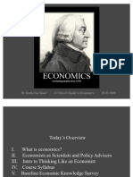 Intro to Economics - Thinking Like an Economist
