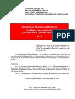 Resolução Técnica Cbmrs Nr 02 Terminologia Aplicada Seguranca Contra Incendio