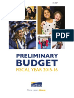 FY 2016 Preliminary Budget