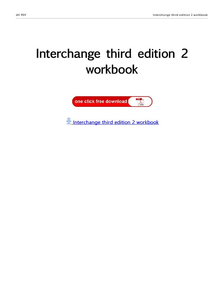 Interchange Third Edition Students Book 1 Audio