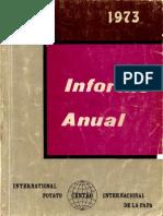 CIP Informe Anual 1973