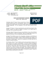 GCSO LAW ENFORCEMENT SUMMARY  MARCH 2, 2015 – MARCH 8, 2015