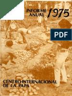 CIP Informe Anual 1975
