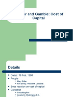 Procter and Gamble - Cost of Capital - PGP 2012