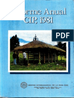 CIP Informe Anual 1981