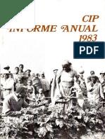 CIP Informe Anual 1983