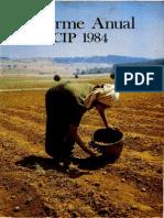 CIP Informe Anual 1984