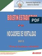 Boletin Estadistico de Mortalidad 2013