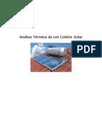 Análise Térmica de Um Coletor Solar