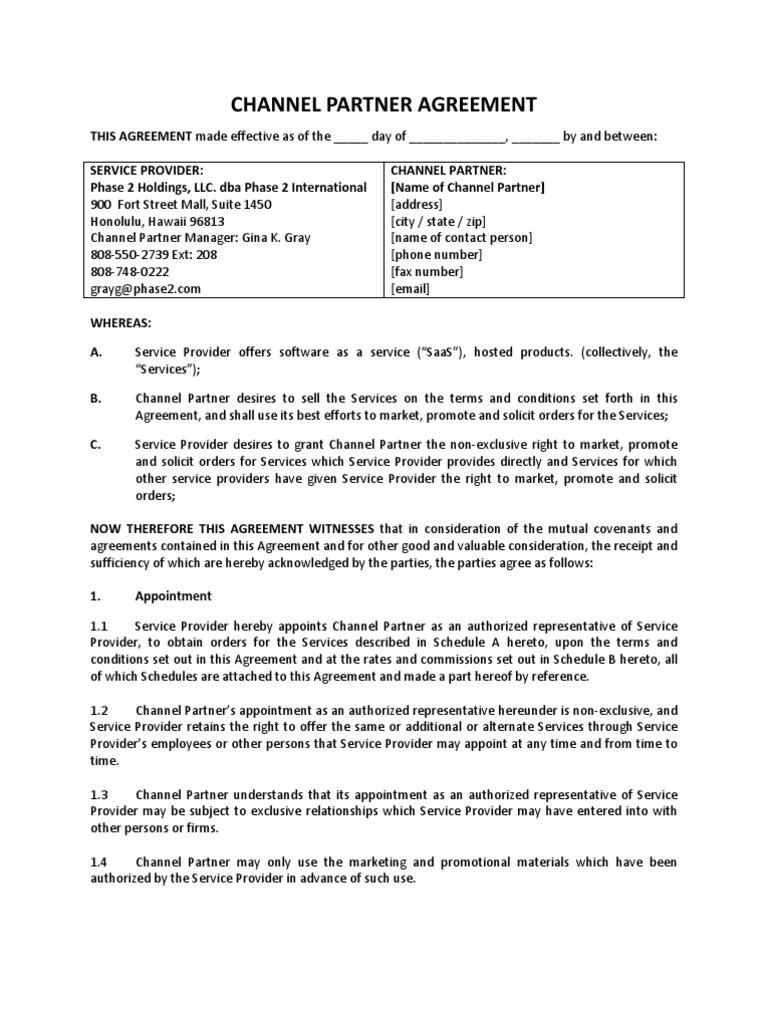 Channel Partner Agreement Arbitration Ibm Notes