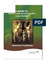 Guide for Master's & Doctoral Studies in Psychology at UNISA
