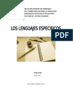 Trabajo de Los Lenguajes Especificos
