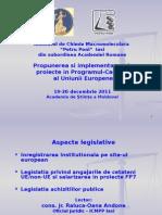 Propunerea Si Implementarea de Proiecte PC7 - Aspecte Legislative