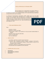 Citas y Referencias en Formato APA