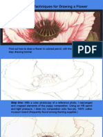 Colored Pencil Techniques for Drawing a Flower