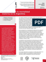 La situacion de la mortalidad materna en la argentina