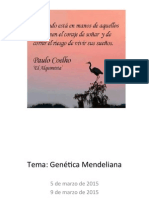 Genética Mendeliana 2015
