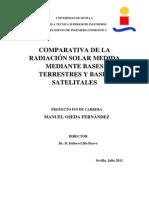 Comparativa de La Radiación Solar Medida Mediante Bases Terrestres y Bases Satelitales