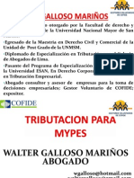 TRIBUTACION MYPES Actualizado Febrero2015