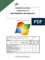 Lab03-Mantenimiento de Windows 7-Mamani de La Cruz Alexander Miguel
