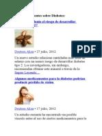 Artículos Recientes Sobre Diabetes