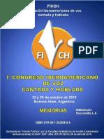 Actas Congreso Iberoamerica de Voz Cantada