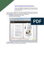 Tips Dan Trik Komputer III (Membaca PDF Dengan Effect Flipping Ketika Membalik Halaman)