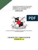 Charte de l'AÉESUM avec modifications