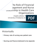 The Role of Financial Management and Nurse Leadership