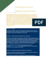 Condiciones Del Contrato de Soporte Técnico Del SIT