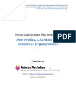 Macfarlane Strategic Plan Template Non Profits Charities and Volunteer Organizations v2