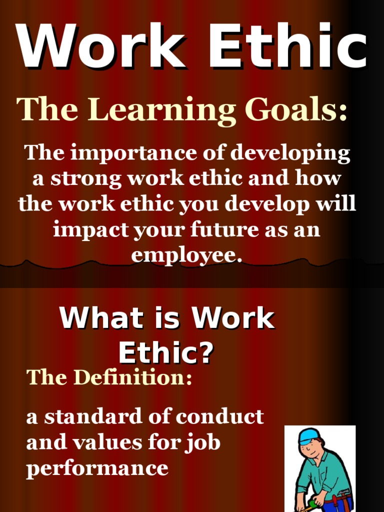 the importance of work ethics