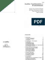Analise Combinatoria e Probabilidade - Augusto Cesar de O. M