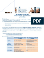Programa Diploma Asistente Alta Direccion