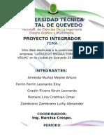 Proyecto - Avance - Datos Especificos