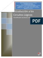 Decodificador Binario a Hexadecimal con Display 7 Segmentos y Compuertas Lógicas