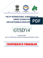 INTERNATIONAL CONFERENCE ON  GREEN TECHNOLOGY AND SUSTAINABLE DEVELOPMENT 2014