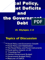 Fiscal Policy, Budget Deficits and Government Debt-IX