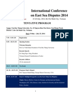 International Conference  on East Sea Disputes 2014