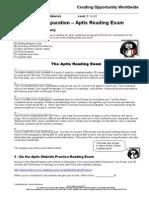 Final Preparation - Aptis Reading Exam (2)