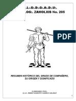 RESUMEN HISTÓRICO DEL GRADO DE COMPAÑERO, SU ORÍGEN Y SIGNIFICADO.doc