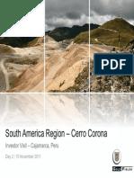 Cerro Corona Info