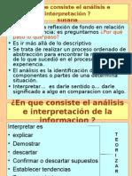 El Analisis e Interpretacion de La