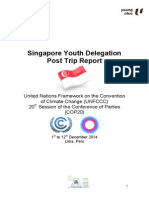 Singapore Youth Delegation to COP20 Report