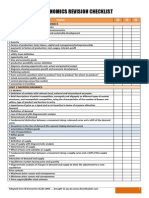 IB Economics Revision Checklist