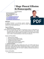 A Case of Pleural Effusion With Cardiomegaly Cured With Homoeopathy