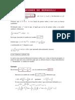 Ecuaciones de Bernoulli